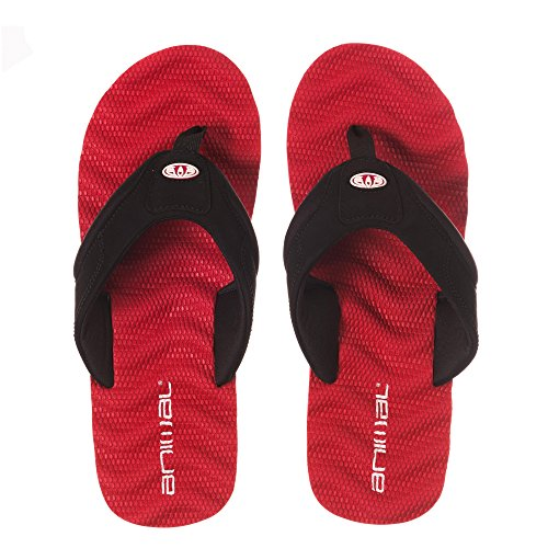 Animal Herren Sandalen Jekyl Ripple Sandalen Crimson Red