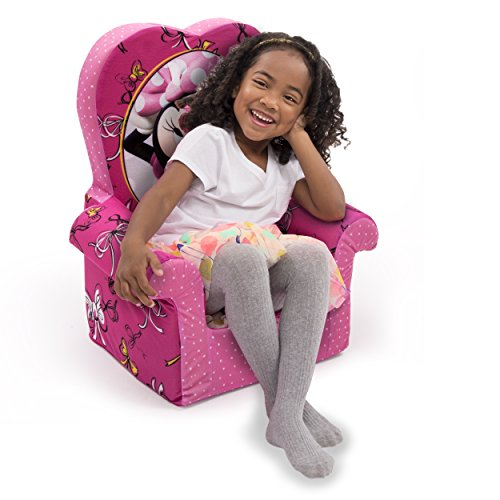 Marshmallow Furniture Minnie's Bow-Tique High-Back Chair