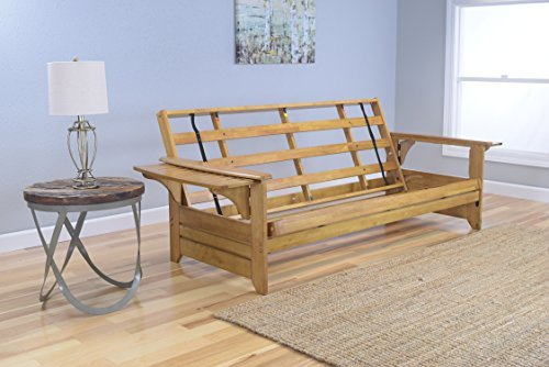 Kodiak Furniture KF Phoenix Queen Futon Frame, Butternut