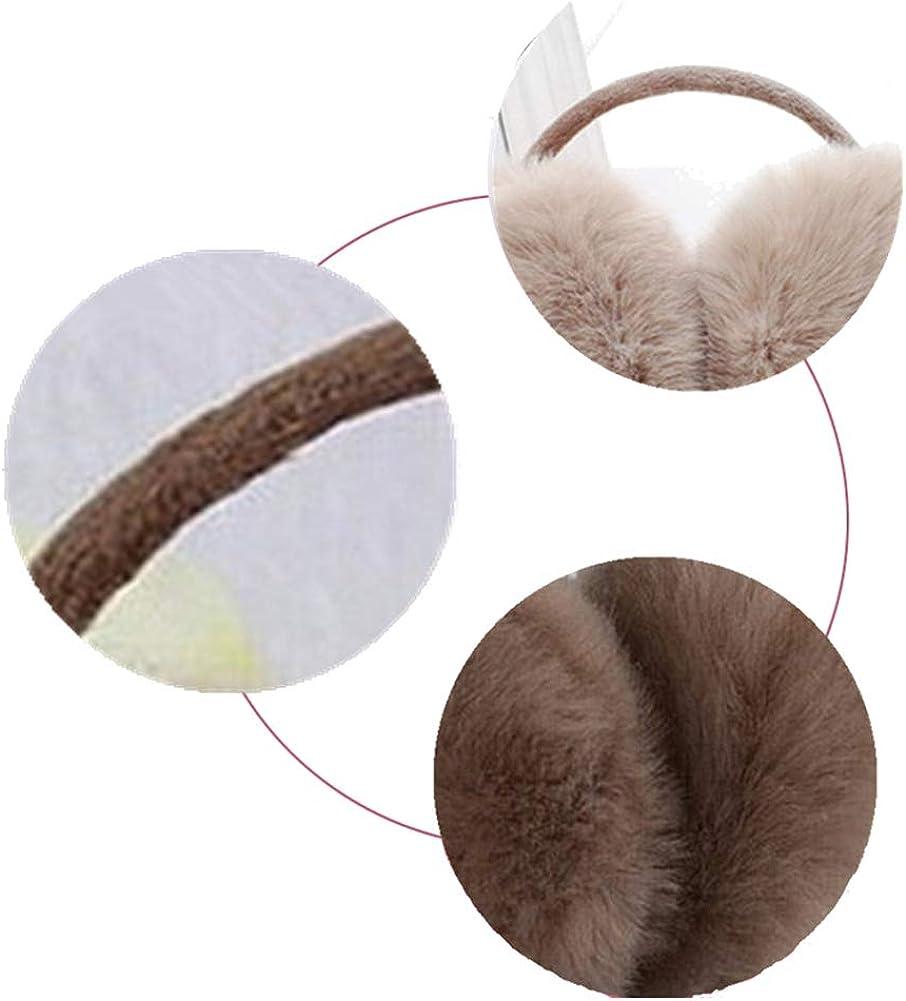 Momangel Cache-oreilles en fausse fourrure pour femme