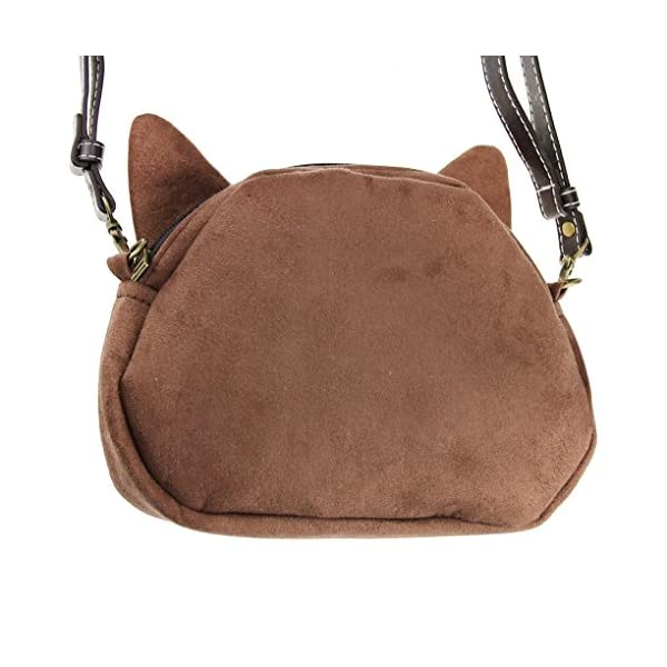 Women Ladies Girls Cute Lovely Cat Face Animal Theme Shoulder Bag Lovely Cat Head Stylish Crossbody Bag Shopping Handbags Clutch Grey Eyes - more-bags