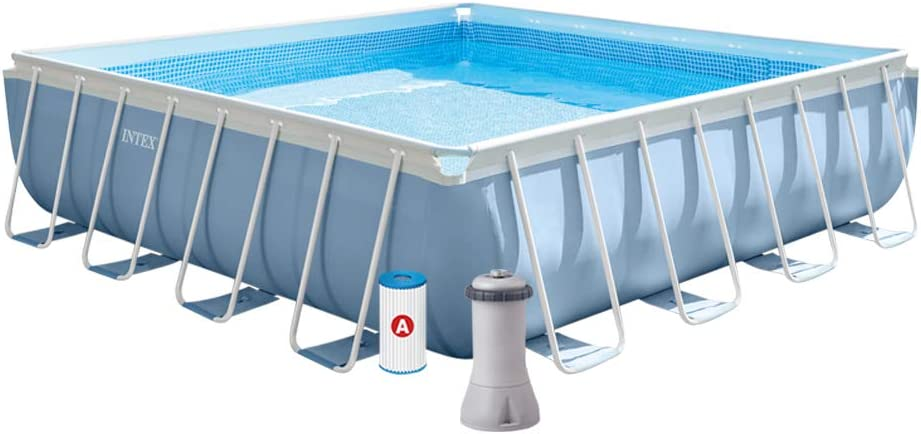 Intex 26764NP Piscina desmontable cuadrada, on depuradora, 427 x 427 x 107 cm: Amazon.es: Jardín