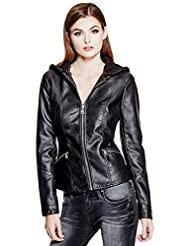 GUESS Krysta Faux-Leather Bomber Jacket