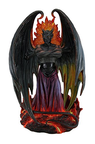 (Resin Statues Lucifer Lord Of Darkness Statue By L.A. Williams 8 X 12.5 X 5.5 Inches Multicolored)