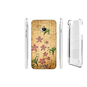 FUNDA CARCASA EFECTO MADERA FIORI PIANTA FLOWER PARA HTC ONE M9
