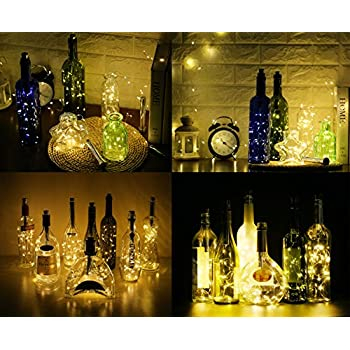 Bottle Lights Metal Cork With 6 Hour Timer Interchangeable Corks For Various Wine
