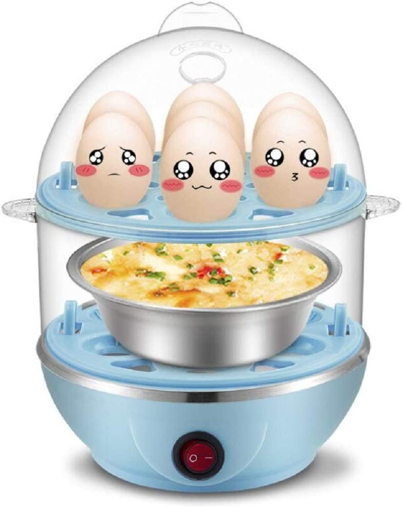 Amazon Com The Secret To Making The Perfect Egg Rice Cooker Set 7 Or 14 Or 21 Capacity Hard Boiled Blue Kitchen Dining