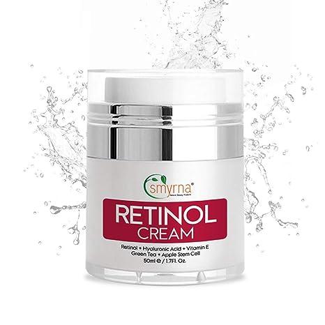 Crema hidratante de retinol Smyrna para el día y la noche para la cara y el
