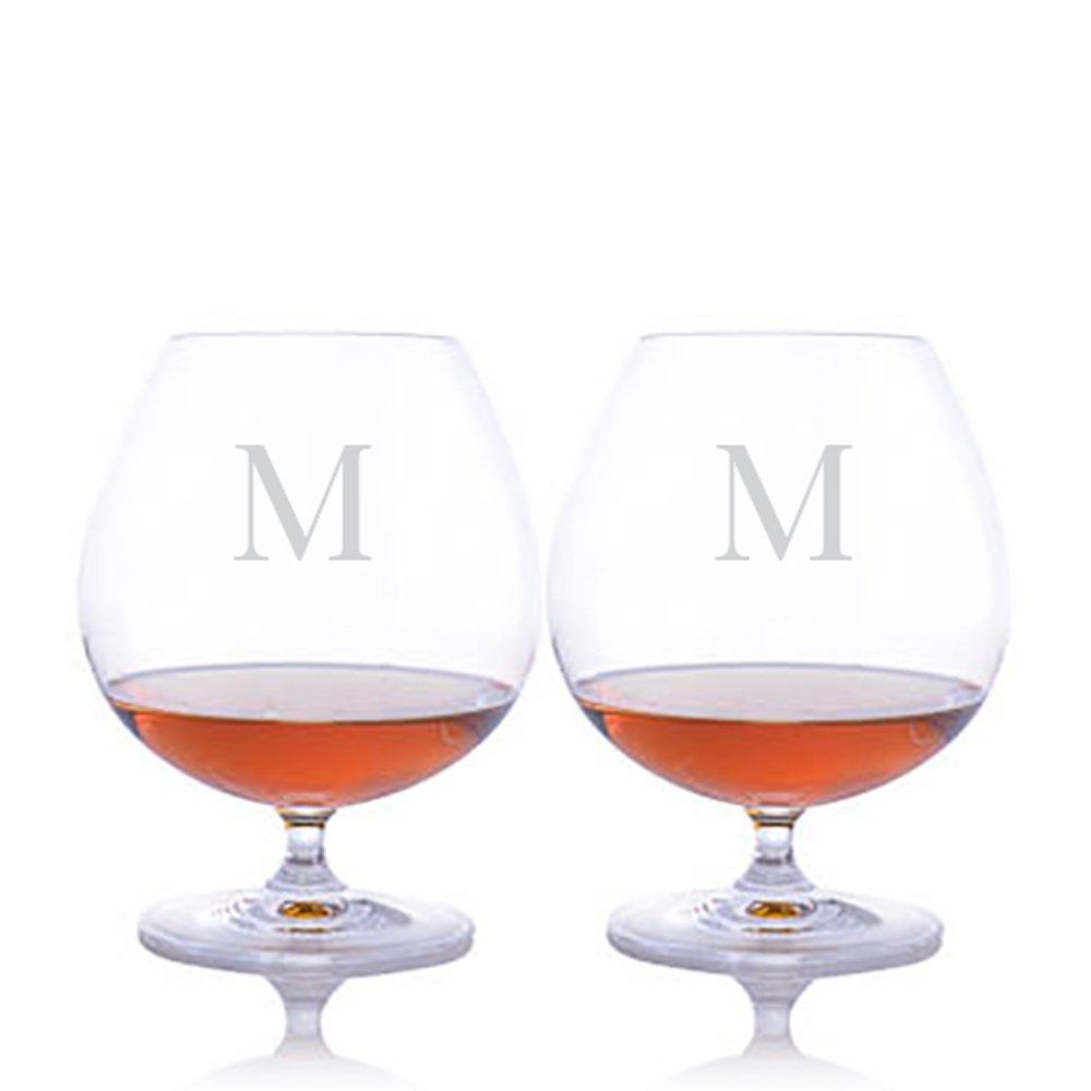 Custom Bar Brandy Glass Set of 2 by Riedel Engraved & Monogrammed