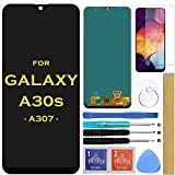 Screen Replacement LCD Display Touch Digitizer Assembly for Samsung Galaxy A30S 2019 A307 SM-A307F A307FN A307G A307GN 6.4'' (Black) (Color: Black)