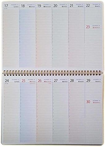 Wochenplaner Tisch mit Date 2018 - A4 30x21cm. - Planer Italienische Version
