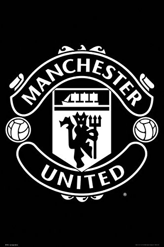 Manchester United Soccer Poster Print The Club Crest Size 24 Inches X 36 Inches
