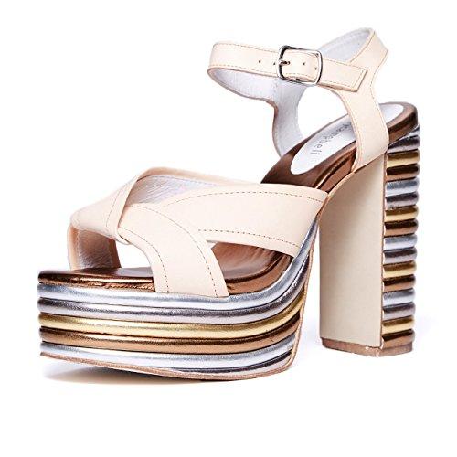 Jeffrey Campbell Amalia, platform sandal, metallic