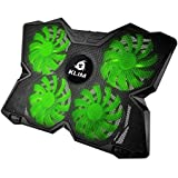 ⭐️KLIM Wind Laptop Cooling Pad - The Most Powerful Slim PC Fan Cooler for Computer - Rapid Cooling Action - 4 Fans Ventilated Support - Light & Quiet - USB Laptops Portable Gaming Stand (Green)