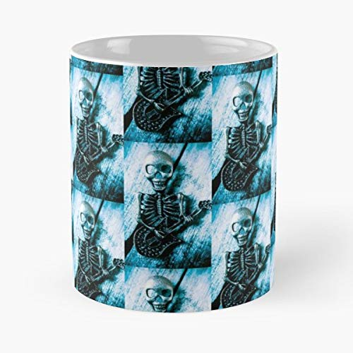 Death Metal Guitarist Skuleton - 11 Oz Coffee Mugs Unique Ceramic Novelty Cup, The Best Gift For Holidays.]()