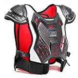 Takuey Children's Professional Armor Vest Motocross Armor Protective Kids Skate Board Skiing Back Support Motorcycle Protective Gear Jackets Guard Shirt Back Support (M)