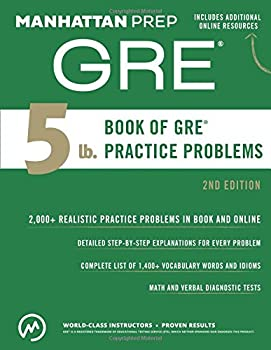 Paperback 5 Lb. Book of GRE Practice Problems Book