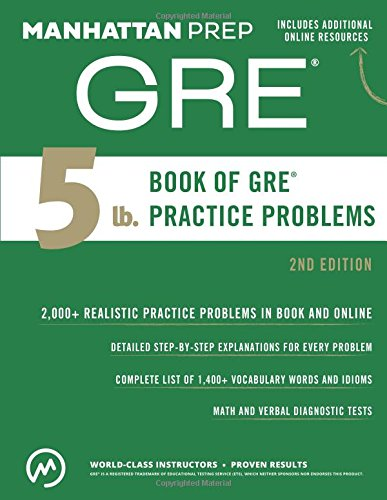 5 lb. Book of GRE Practice Problems (Manhattan Prep 5 lb Series) cover