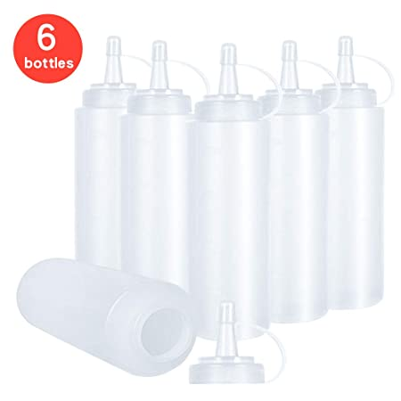 in plastica 200 ml 3 flaconi per schiacciare salse