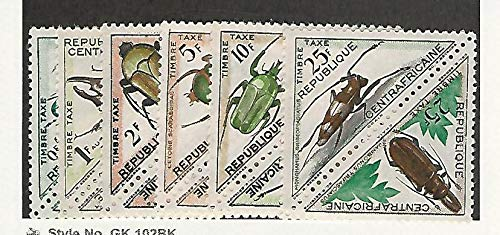 Central Africa, Postage Stamp, J1-J12 Mint Hinged, 1962 Insects, JFZ