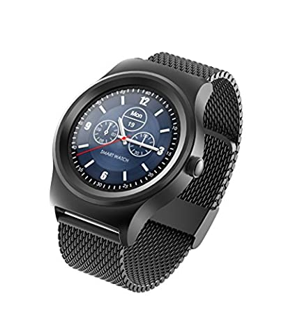 TechComm SMA Series Q3 IP54 Water-Resistant Smartwatch with Bluetooth, Fitness Tracker, Heart Rate Monitor, Pedometer, Sleep Monitor, Sedentary Reminder and Wake-Up (Gsm Unlocked Iphones S3)