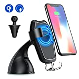 Wireless Charger Car Mount, SonRu Fast Qi Wireless Charging & Air Vent Phone Holder for iPhone X iPhone 8+ iPhone 8, Samsung Galaxy S8 S8 Plus Note 8 S7 Edge S6 Edge Plus