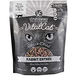 Vital Essentials Vital Cat Freeze-Dried Rabbit Mini Nibs Grain Free Limited Ingredient Cat Entrée, 12 Ounce Bag
