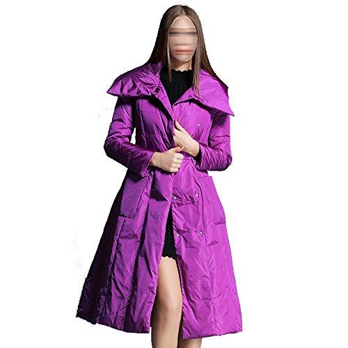 Modelos Femeninos Traje De Cuello Pan DSW De Gama Alta De Las Mujeres Largas Delgadas De Pato Blanco Domesticado Gallina Multicolor Multi-tamaño,Purple-xxl