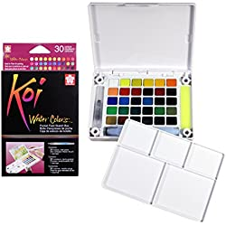 Sakura XNCW-30N Koi Field 30 Assorted Watercolors with Brush Sketch Set