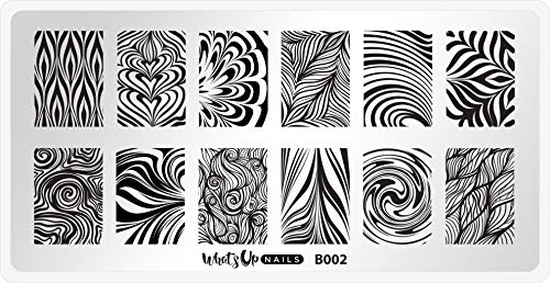 Whats Up Nails - B002 Water Marble to Perfection Stamping Plate for Nail Art Design