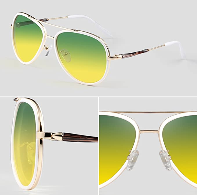 Sonnenbrille Unisex-Farbverlauf Linse Anti-Glare Anti-UV polarisierte Licht Sonnenbrille X6iY0