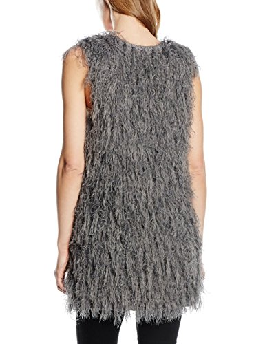 True Religion Knit Vest Fringes, Chaqueta para Mujer Grau (STEEL 1210)