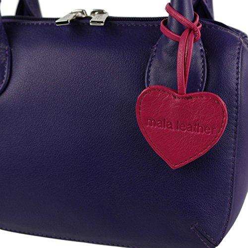 De Asas Mala Morado Mujer Leather Azul Bolso Para EUw8FOqx