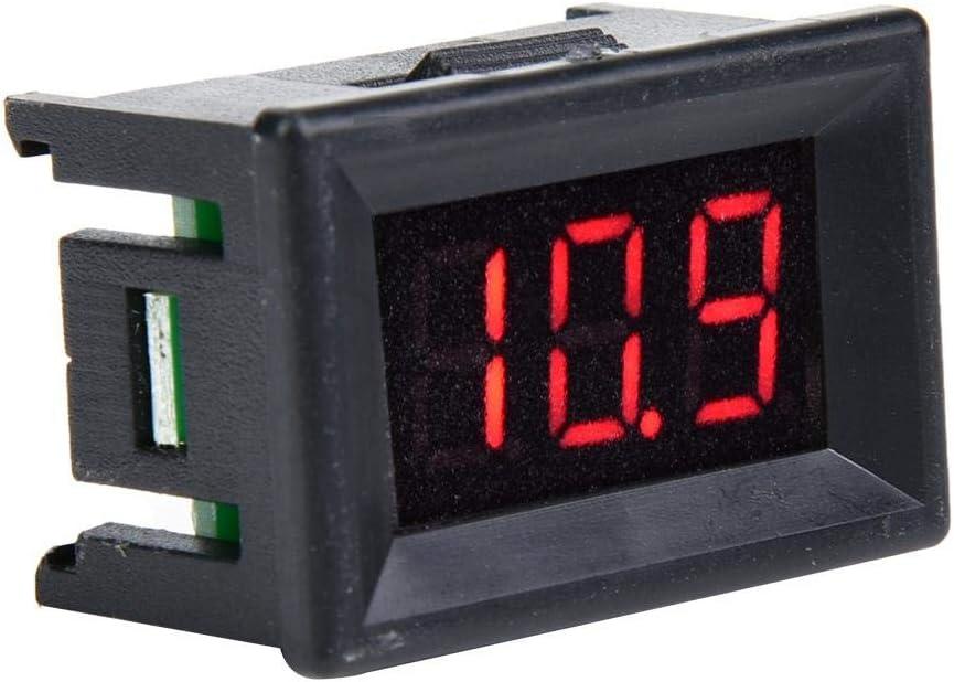 Red Voltmeter High Precision Two-Wire Waterproof LED Display Digital DC Voltage Gauge 2.4V-30V
