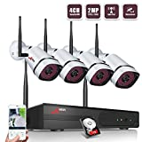 Cheap Wireless Security Camera System,ANRAN Full HD 4CH 1080P Wireless Video Security System with 1TB HDD(WIFI NVR KIT),4pcs 1080P Indoor Outdoor Wireless IP Cameras,P2P,65ft Night Vision,Easy Remote View