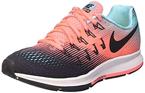 Nike Womens Air Zoom Pegasus 33 BLACK/BLACK-LAVA GLOW-POLARIZED BLUE (Nike Lifestyle Scarpe)