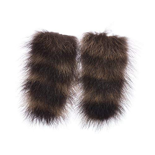 - Fratelli Sagray Italian Fur Shoelace Covers Dress Up Shoes 100% Raccoon Fur Shoe Accessories for Womens, Girls, and Mens Shoes – Trendy Fur Pom Poms for Shoe Clip Inserts (S, Coffee)