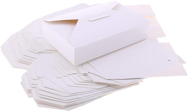 Tubayia 20 Pieza Rectangular de Papel pastas Cajas Cajas Cajas para Tarta Caja para Pastel para Donut/Muffin/Galletas: Amazon.es: Hogar