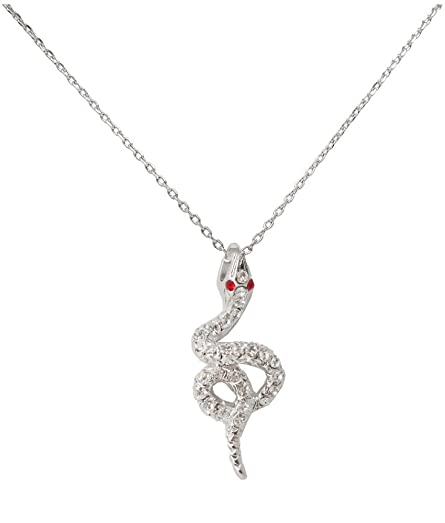 Amazon azzariaswarovski crystal snake pendant necklace swarovski crystal snake pendant necklacelength 38 aloadofball Image collections