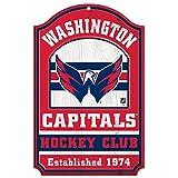 WinCraft NHL Washington Capitals 35891014 Wood Sign, 11'' x 17'', Black