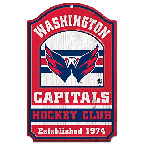 WinCraft NHL Washington Capitals 35891014 Wood Sign, 11'' x 17'', Black by WinCraft