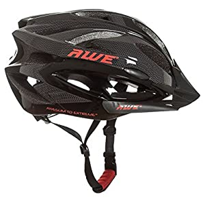 AWE AWEAir FREE 5 YEAR CRASH REPLACEMENT* In Mould Adult Mens Cycling Helmet 58-61cm Black, Carbon