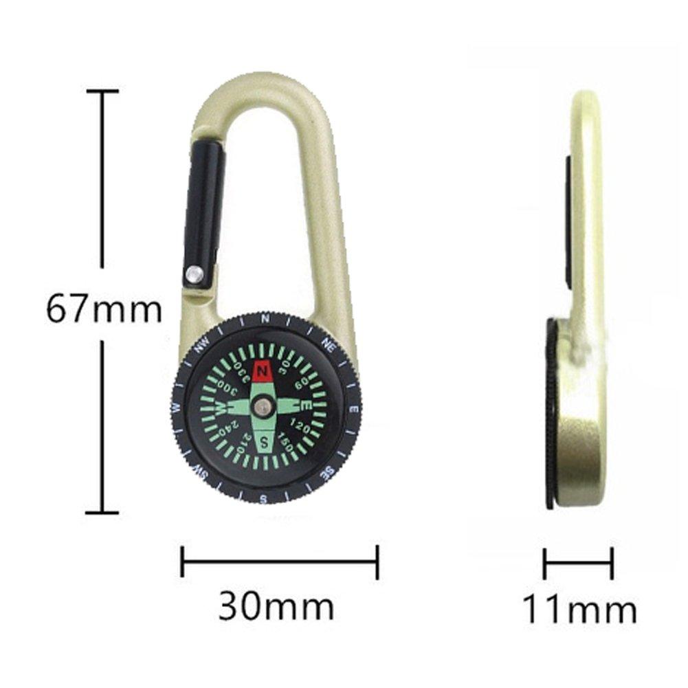 Amazon.com: Luly aleación de aluminio Mosquetón brújula Clip ...
