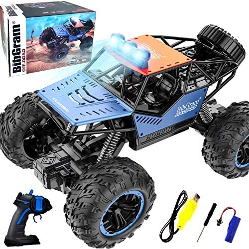 BibGram Remote Control Car, RC Cars 1:18 Scale 20 Km/h with Rechargeable Batteries All Terrains Off Road Race Crawler for Girls Boys 3-5/4-7/8-12