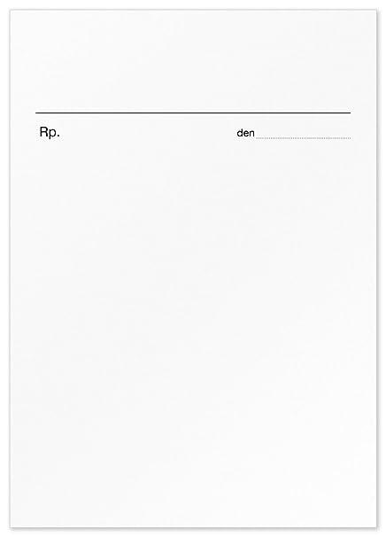 200 Privado Recetas DIN A6, bloques de recetas para médicos y ...