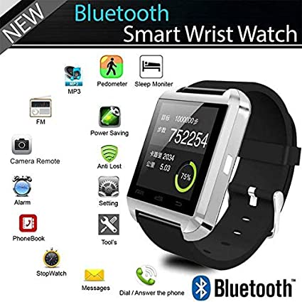 Amazon.com: YIGEYI Bluetooth Smart Watch u8 for Apple ...