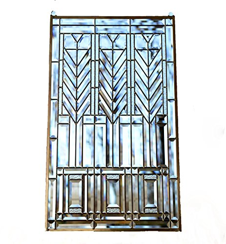 yle stained glass Clear Beveled window panel ()