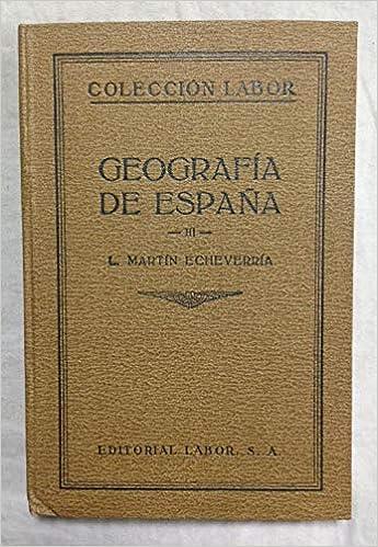GEOGRAFIA DE ESPAÑA III: Amazon.es: MARTIN ECHEVARRIA L.: Libros