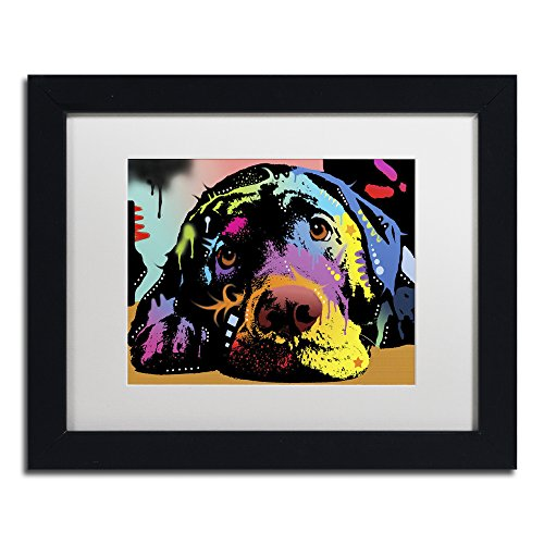 Lying Lab by Dean Russo, White Matte, Black Frame 11x14-Inch
