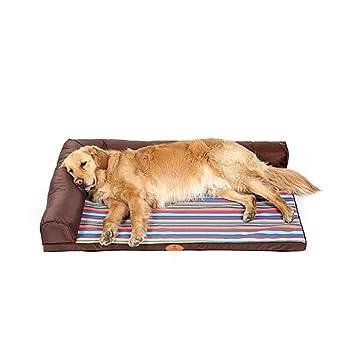 ZH Cama de Mascota Abierta Cama de Perro Grande Interior Cama de Perro Resistente a los